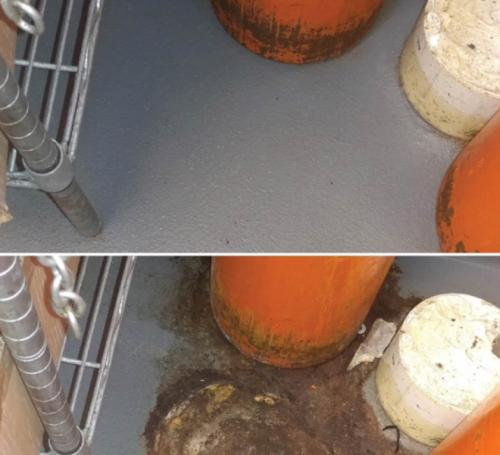 Before & After, Floor Grime Cleaning