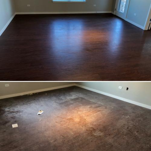 Before & After, Hardwood Floor Cleaning
